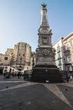 Piazza San Domenico Maggiore Stock Image