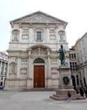 Piazza San Fedele royaltyfri bild
