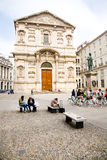 Piazza San Fedele, Milan Photo stock