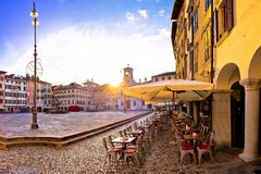 Piazza San Giacomo in Udine sunset panoramic view Royalty Free Stock Photography