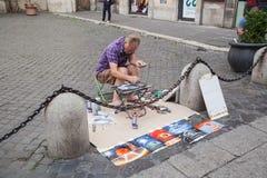 Piazza San Marcello al Corso in Rome Royalty Free Stock Photo
