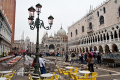 Piazza San Marco à Venise Photos stock