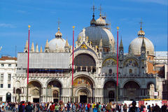Piazza San Marco and basilica in Venice, Italy Stock Image