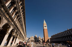 Piazza san marco and campanile Royalty Free Stock Image
