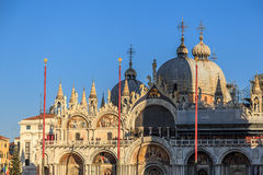 Piazza San Marco with Campanile, Basilika San Marco and Doge Palace. Venice, Italy.  Stock Photo