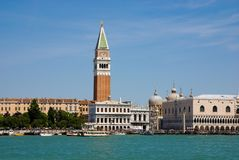 Piazza San Marco with Campanile and Doge Palace Royalty Free Stock Images