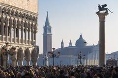Piazza San Marco and the Church of San Giorgio Maggiore Stock Image