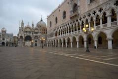 Piazza San Marco at dawn Stock Images