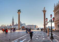 Piazza San Marco on December 11, 2012 in Venice Stock Images