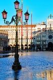 Piazza San Marco di Venezia Italia ad alta marea Fotografie Stock