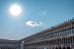 Piazza San Marco Dzwonnica Di San Marco w Wenecja, Włochy Zdjęcia Royalty Free