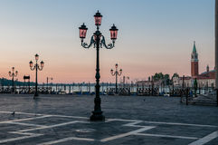 Piazza San Marco in early morning at Venice. Stock Photography