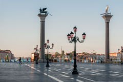 Piazza San Marco in early morning at Venice. Royalty Free Stock Images
