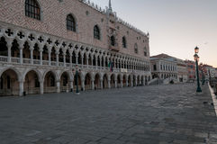 Piazza San Marco in early morning at Venice. Royalty Free Stock Photography