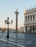 Piazza San Marco in early morning at Venice. Stock Images