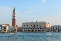 Piazza San Marco en het Paleis van de Doge, Venetië stock fotografie