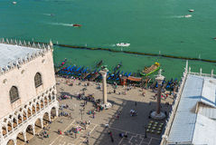 Piazza San Marco, Grand Canal, Doge's Palace in Venice Stock Images