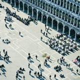 Piazza San Marco i Venedig, Italien Arkivbilder