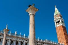 Piazza San Marco i Venedig, Italien arkivbild