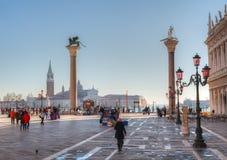 Piazza San Marco l'11 dicembre 2012 a Venezia Immagini Stock