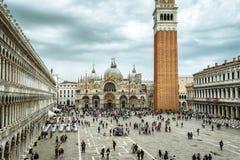 Piazza San Marco lub St Mark ` s kwadrat w Wenecja, Włochy Zdjęcie Royalty Free