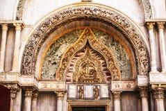 Piazza San Marco met de Basiliek van het Teken van Heilige en de klokketoren van St Campanile van het Teken Stock Fotografie
