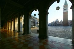 Piazza San Marco in the morning royalty free stock photography