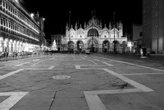 Piazza San Marco Next To The Campanile, Basilika San Marco And Doge Palace. Venice, Italy Royalty Free Stock Images