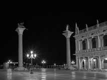 Piazza San Marco at night. Stock Images
