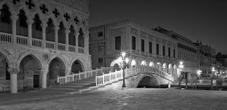 Piazza San Marco at night. Stock Image