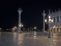 Piazza San Marco at night, Venice. Stock Images