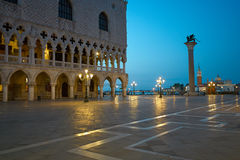 Piazza San Marco at night Venice. Stock Images