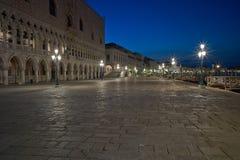 Piazza San Marco at night Venice. Royalty Free Stock Photo