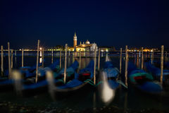 Piazza San Marco at night Venice. Royalty Free Stock Images