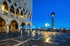 Piazza San Marco at night in Venice, Italy Stock Photo