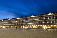 Piazza San Marco at night, Venice, Italy Royalty Free Stock Photos