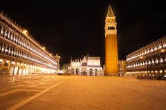 Piazza San Marco at night Royalty Free Stock Photography