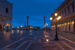 Piazza San Marco at night in winter Stock Image