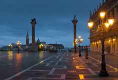 Piazza San Marco at night in winter Royalty Free Stock Photo