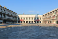 Piazza San Marco without people, Venice. Royalty Free Stock Photo