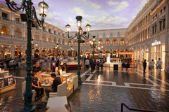 The Piazza San Marco replica in Venetian Hotel Stock Image