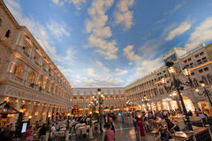 The Piazza San Marco replica in Venetian Hotel Royalty Free Stock Image