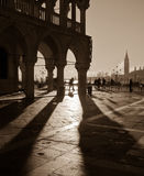 Piazza San Marco. Sepia image of Venice. Royalty Free Stock Photography