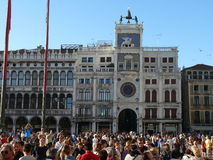 Piazza San Marco (St Mark's Square). Clock Tower (Torre dell'Orologio) - Venice, Italy Stock Photo