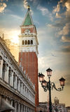 Piazza San Marco. At sunrise, Vinice, Italy Royalty Free Stock Photo