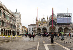 Piazza san marco. Tourists in Piazza San Marco in Venice Carnival days royalty free stock image