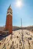 Piazza San Marco, Venedig, Italien Fotografering för Bildbyråer