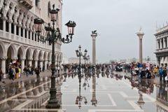 Piazza San Marco Venetië Stock Foto