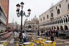 Piazza San Marco in Venetië Stock Foto's