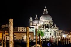 Piazza San marco w Venice nocą Zdjęcia Stock